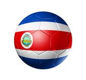 Soccer football ball with Costa Rica flag — Stock Photo
