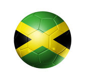 Soccer football ball with Jamaica flag — Stock Photo