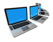 Laptop computers isolated on white — Stock Photo