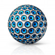 Foto Stock: Blue speakers sphere