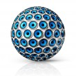 Blue speakers sphere - Stockfoto