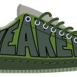 Stock Vector: Sneakers text