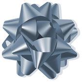 Bow silver — Stock Vector
