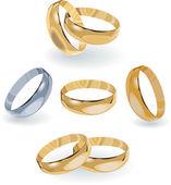 Rings design — Stock Vector