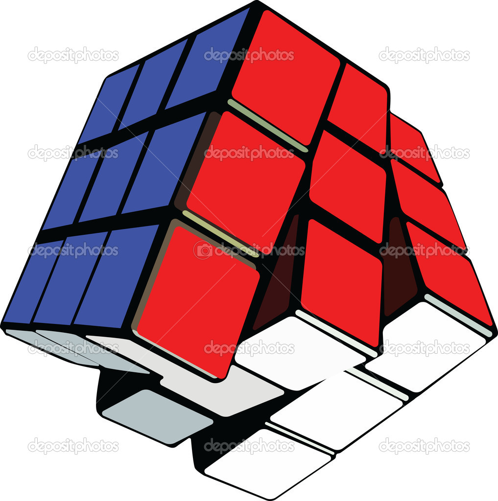Puzzle cube  Stock Vector #6597123