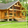 Beautiful wooden house - Foto Stock