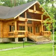Stock Photo: Beautiful wooden house