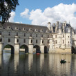 Chenonceau - Castle and garden - Stock Photo