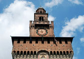 Milan - Castello Sforzesco, Sforza Castle — Stock Photo