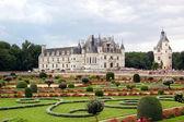 Chenonceau - kale ve bahçe — Stok fotoğraf