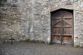 Courtyard of Kilmainham Gaol — Stock Photo
