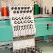 Textile: Industrial Embroidery Machine — Stockfoto