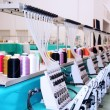 Stock Photo: Textile: Industrial Embroidery Machine