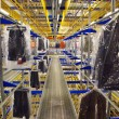 Stock Photo: Italiclothing factory - Automatic warehouse