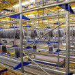 Italian clothing factory - Automatic warehouse - Stock Photo