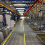 Italian clothing factory - Automatic warehouse — Stock Photo #6493651