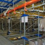 Italian clothing factory - Automatic warehouse — Stock Photo