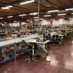 Italian clothing factory — Stock Photo