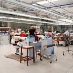 Italian fashion, clothing factory - Designer — Stock Photo
