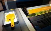 Press printing - Offset machine — Stock Photo