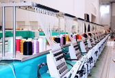 Textiel: Industriële Embroidery Machine — Stockfoto