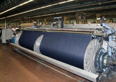 Textile industry (denim) - Weaving — 图库照片