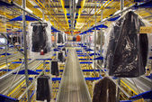 Italian clothing factory - Automatic warehouse — Stock Photo
