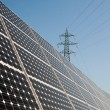 Stock Photo: Renewable energy: solar panels