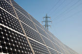 Renewable energy: solar panels — Stock Photo