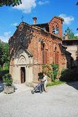 Medieval village: Grazzano Visconti - Church — Stock Photo