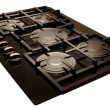 Design: modern gas hob — Stock Photo