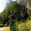 Stock Photo: Rubbish bins to keep clean the mountains (Dolomites, Italy)