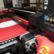 Digital printing - wide format printer - Stock Photo