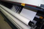Digital printing - wide format printer — Foto de Stock