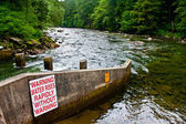 Fish Ladder on Snoqualmie River — Stock Photo