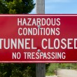 Stock Photo: Hazardous Conditions Sign