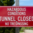 Hazardous Conditions Sign — Stock Photo