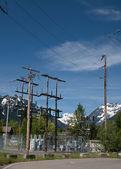 Hoge berg onderstation — Stockfoto
