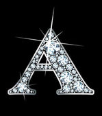 "Diamante ""a"" — Vector de stock"