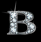 "Diamond ""B"" — Vector de stock"