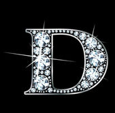 "Diamond ""D"" — Stockvector"