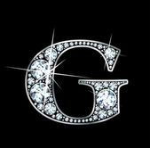 "Diamante ""g"" — Vector de stock"