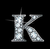 "Diamante ""k"" — Vetorial Stock"