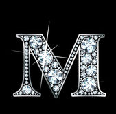 "Diamante ""m"" — Vector de stock"