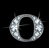 "Diamante ""o"" — Vector de stock"