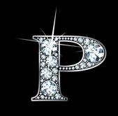 "Diamond ""P"" — Vector de stock"