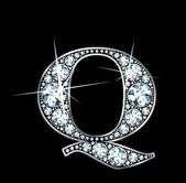 "Diamond ""Q"" — Vector de stock"