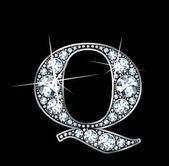 "Diamond ""Q"" — Stock Vector"