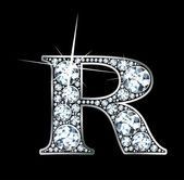 "Diamond ""R"" — Stok Vektör"