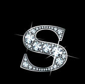 "Diamond ""S"" — Vector de stock"